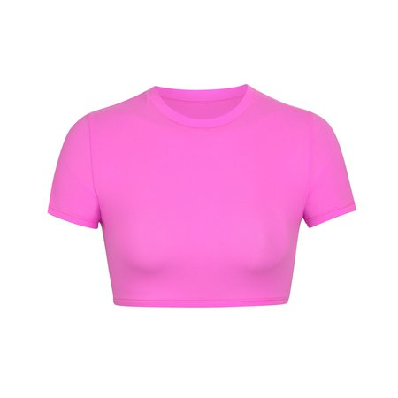 Fits Everybody Super Cropped T-Shirt - Neon Orchid | SKIMS