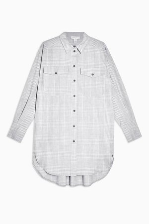 **Grey Check Shirt By Topshop Boutique | Topshop