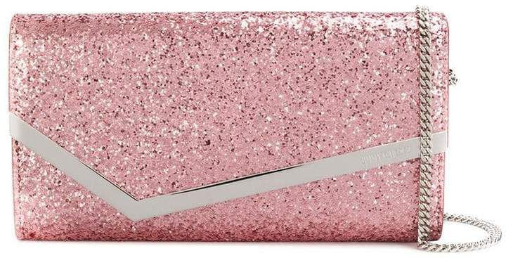 Emmie glitter clutch bag
