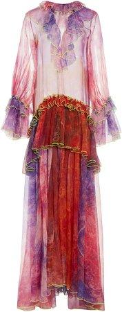 Germanier Ruffle Maxi Dress