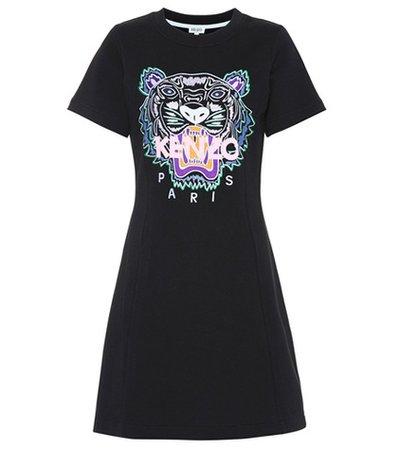 Tiger logo cotton minidress
