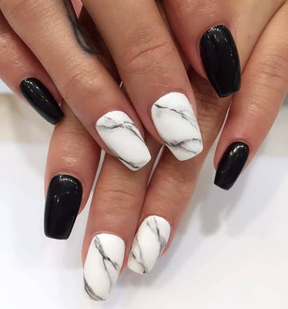 50 Stunning Black and White Nail Designs that are Easy to Create in 2019