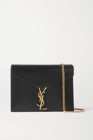 Black Cassandra leather shoulder bag | SAINT LAURENT | NET-A-PORTER
