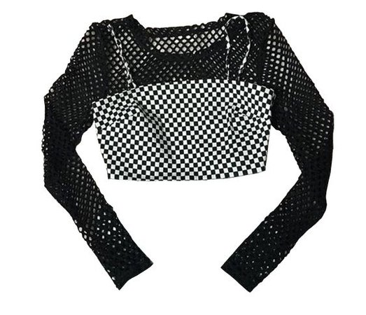 black top png mesh shirt