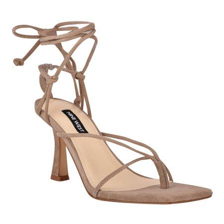 Yarin Ankle Wrap Heeled Sandal - Nine West