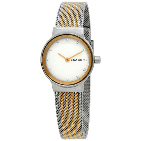 Skagen Freja Crystal White Dial Ladies Watch SKW2698 | Urban Outfitters