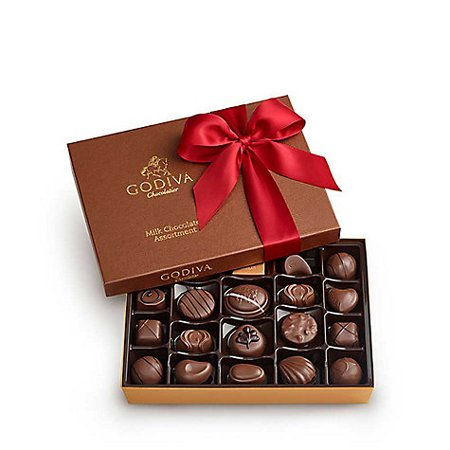 Milk Chocolate Gift Box, 22 pc. Red Ribbon | GODIVA