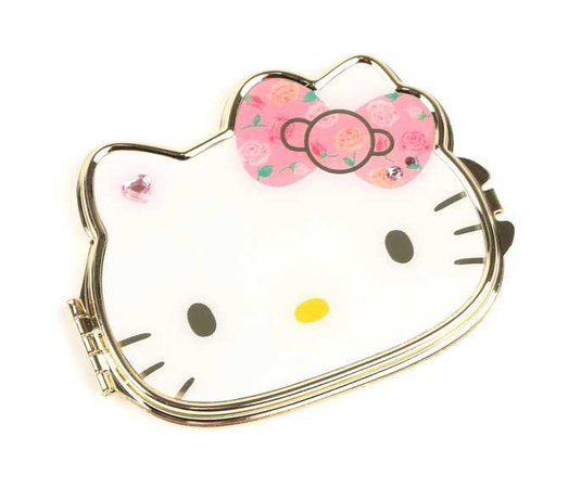 Hello Kitty Diecut Compact Mirror: Roses | Sanrio