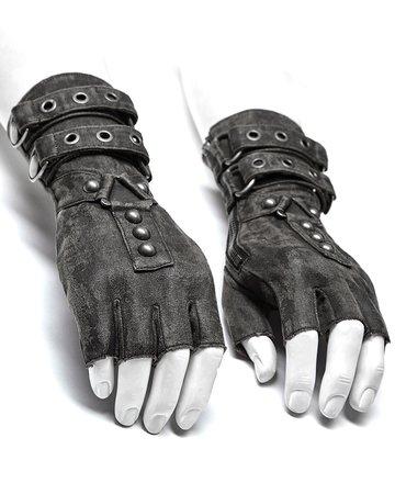 punk grey gloves - Google Search