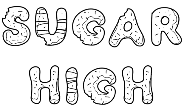 Sugar High Logo - Black (font: pwyummydonuts)