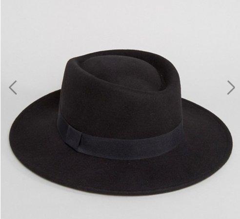 Black Widebrimmed Hat