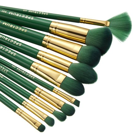 10 Piece Malachite Brush Set – Spectrum Collections Europe