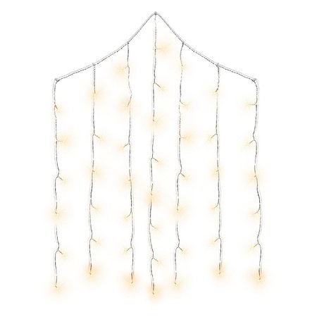 Cascading Curtain LED String Lights 3 1/2ft x 5ft | Party City Canada