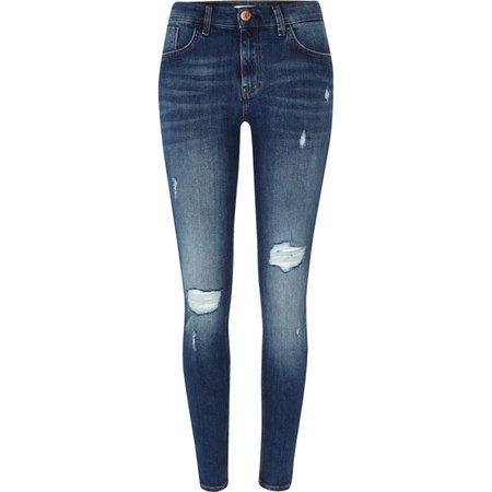Blue Amelie super skinny ripped jeans - Skinny Jeans - Jeans - women