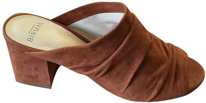 Camel Suede Sandals
