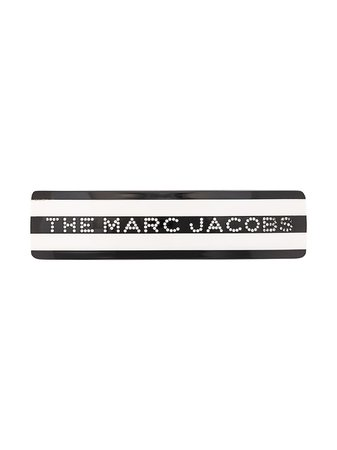 Marc Jacobs Striped Logo Hair Clip | Farfetch.com