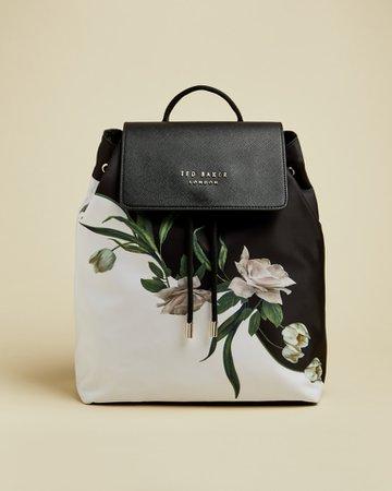 Elderflower drawstring backpack - Black | Bags | Ted Baker UK