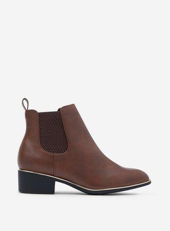 Wide Fit Tan 'Mondrian' Chelsea Boots | Dorothy Perkins