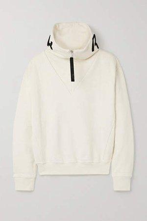 Embroidered Cotton-jersey Sweatshirt - Off-white