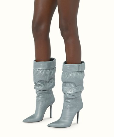 The puffer boots 115 - Silver Grey | FENTY