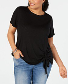 INC International Concepts I.N.C. Plus Size Drawstring Sweater, Created for Macy's & Reviews - Sweaters - Plus Sizes - Macy's