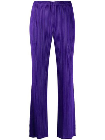 Pleats Please Issey Miyake pleated cropped trousers purple PP16JF125 - Farfetch