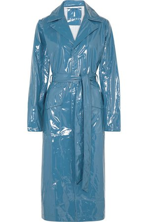 Rains | Glossed-PU trench coat | NET-A-PORTER.COM