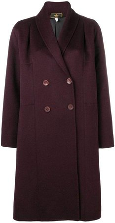 Pre-Owned 2000's double-breasted midi coat