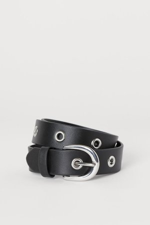 Belt with Grommets - Black