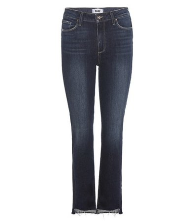 Jacqueline High-rise Straight Crop jeans