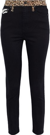 Good Cropped Patchwork High-rise Skinny Jeans