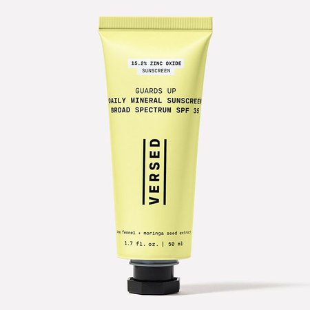 Reviewed: Versed Guards Up Daily Mineral Sunscreen | Who What Wear