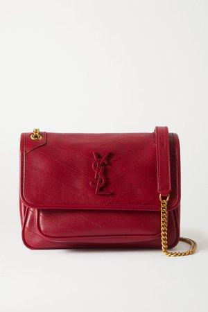 Red Niki Baby mini quilted leather shoulder bag | SAINT LAURENT | NET-A-PORTER