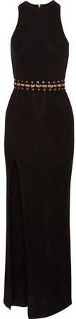 Embellished Stretch-knit Maxi Dress - Black