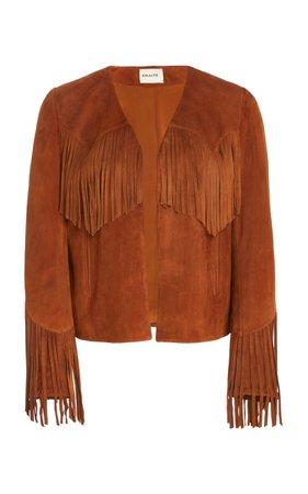 Gracie Fringed Leather Jacket by Khaite | Moda Operandi