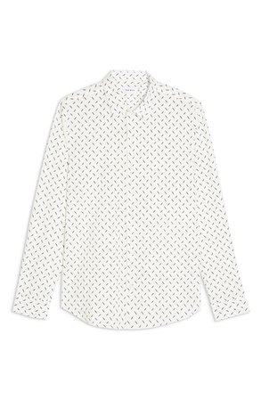 Topman Off White Dot Button-Up Shirt | Nordstrom