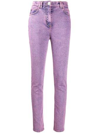 Balmain logo-patch Skinny Jeans - Farfetch
