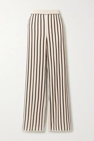 Ecru Striped crochet-knit straight-leg pants | Missoni | NET-A-PORTER