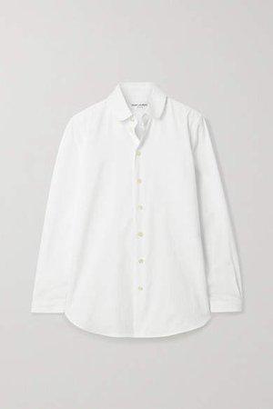 Ribbed Cotton-poplin Shirt - White