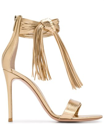 Gianvito Rossi Ric 105mm Knot Detail Sandals - Farfetch