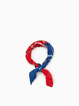 red and blue bandana two toned - Google Search