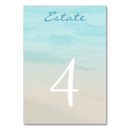 Ocean Beach Wedding Table Number Card | Zazzle.com