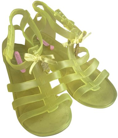 Yellow Plastic Sandals