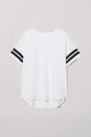 T-shirt with Stripes - White