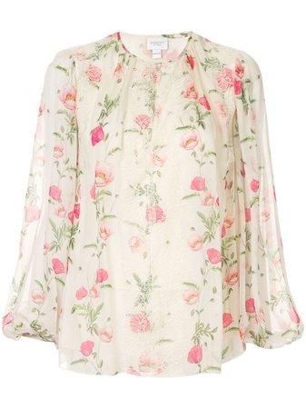 Giambattista Valli Floral Print Blouse - Farfetch