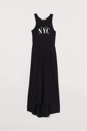 Long Jersey Dress - Black