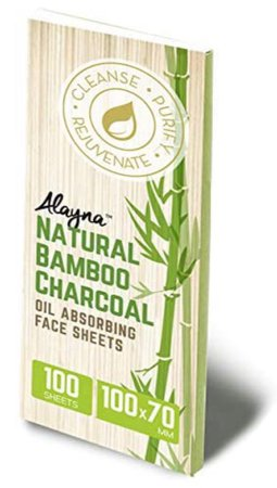 Alayna Natural Bamboo Charcoal Oil Absorbing Face Sheets