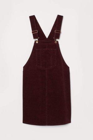 MAMA Bib Overall Dress - Red