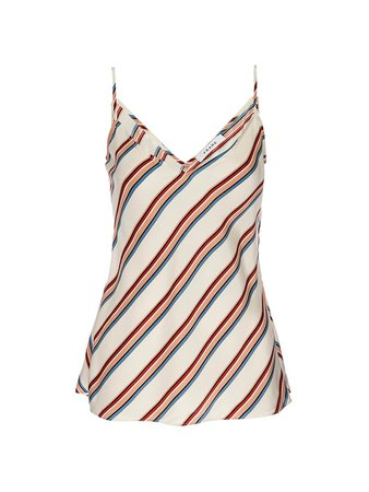 Frame Classic Striped Silk Camisole on SALE | Saks OFF 5TH