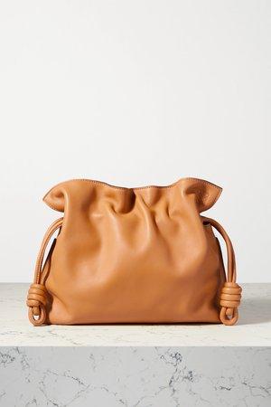 Camel Flamenco leather clutch   Loewe   NET-A-PORTER